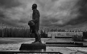 Picture autumn, monument, architecture, мемориальный комплекс