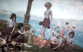 Picture girls, fan, 3D graphics