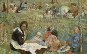 Picture picture, 1912, Isaac Brodsky, Isaak Brodsky, Nanny with Children