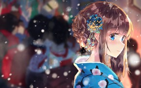 Picture girl, hairstyle, festival