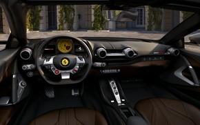 Picture the wheel, Ferrari, salon, GTS, 812, 2019