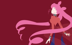 Picture girl, background, minimalism, Sailor Moon