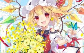 Picture smile, anime, girl, Touhou, Touhou