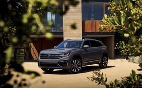 Picture grey, Volkswagen, SUV, 2020, Atlas Cross Sport