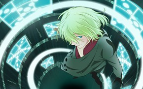 Picture look, anime, guy, Aquarion Evol