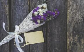 Picture flowers, bouquet, wood, flowers, purple