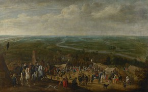 Picture oil, picture, canvas, Pauwels of Hillegaert, 1631, Prince Frederick Henry at the siege of ' …