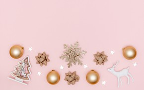 Picture background, pink, Christmas, composition