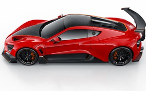 Picture supercar, Zenvo, side view, 2018, TSR-S