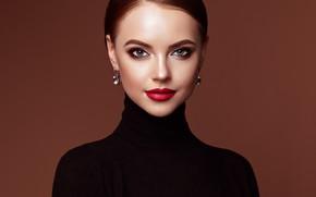 Picture eyes, look, girl, face, portrait, earrings, makeup, beauty, Oleg Gekman