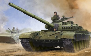 Picture tank, USSR, Soviet, T-72, THE T-72A, BMP-1, the second generation, Tankers, the mass