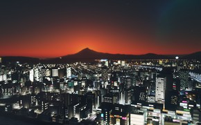 Picture landscape, night, the city, cities skylines