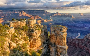 Picture rocks, canyon, AZ, USA, Grand Canyon