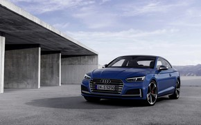 Picture the sky, blue, Audi, coupe, Audi A5, Coupe, Audi S5, 2019