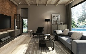 Picture design, style, room, interior, living room, Modern Loft
