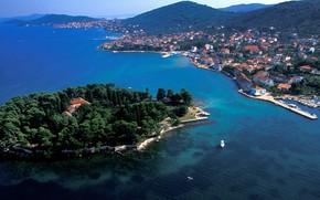 Picture sea, Islands, Croatia, Adriatica, the island of Ugljan, the town of Preko