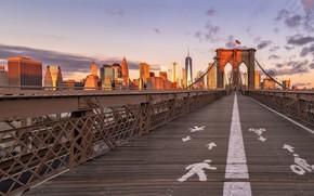 Picture bridge, building, New York, Brooklyn bridge, Manhattan, skyscrapers, Manhattan, New York City, Brooklyn Bridge