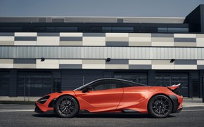 Picture orange, McLaren, in profile, 2020, 765LT