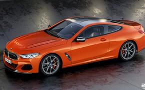 Picture Auto, BMW, Machine, BMW, Orange, Coupe, Rendering, BMW 8 Series, M850i, Zoki Nanco, by Zoki …