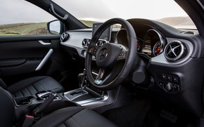 Picture Mercedes-Benz, interior, pickup, 2017, X-Class, UK-version