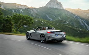 Picture road, mountains, grey, speed, BMW, Roadster, BMW Z4, M40i, Z4, 2019, G29