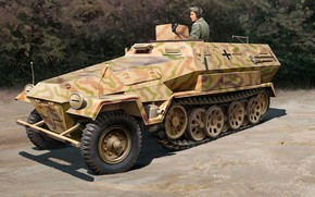 Picture Germany, APC, The Wehrmacht, Sd Kfz 251, Hanomag, MG 34