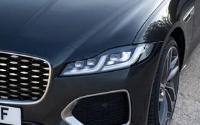 Picture Jaguar, headlight, the hood, before, universal, Jaguar XF, 2020, XF, XF Sportbrake