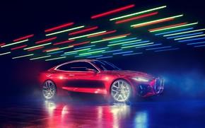 Picture Concept, BMW, red, rad, BMW Concept 4, BMW Concept