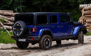 Picture blue, SUV, 4x4, primer, Jeep, 2019, Wrangler Unlimited 1941 Sahara