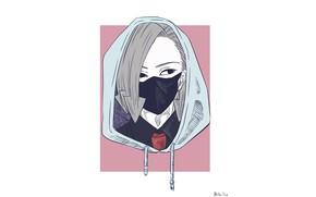 Picture minimalism, mask, My Hero Academia, Boku No Hero Academy, My Hero Academy, Kurono Hari