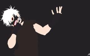 Picture background, minimalism, anime, guy, Tokyo Ghoul, Tokyo Ghoul, The Kaneko Ken