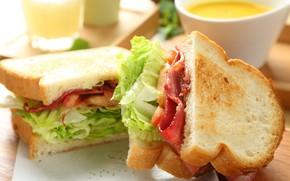 Picture food, bread, salad, sandwiches, sandwich
