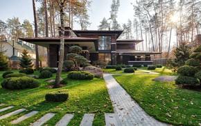 Picture design, Villa, garden, architecture, facade, beds, by 33bY Architecture, Prairie House