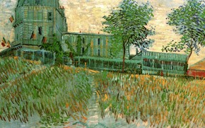 Picture Vincent van Gogh, of the Sirene at Asnieres, The Restaurant