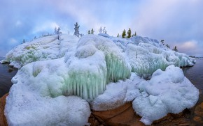 Picture winter, shore, ice