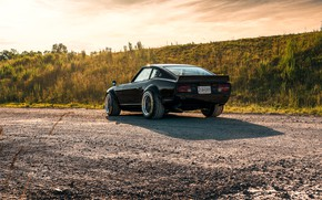Picture road, design, style, Nissan, Car, rear view, Datsun, 240z 6