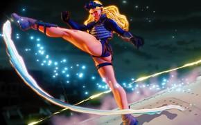 Picture ass, girl, blonde, blow, leg, ass, stroke, street fighter, choline