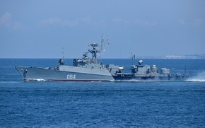 Picture ship, anti-submarine, small, Muromets, project 1124m, cipher Albatross