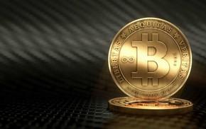 Picture blur, logo, coins, fon, coins, bitcoin, bitcoin
