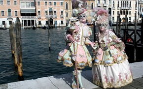 Picture the city, carnival, mask, costumes