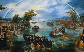 Picture oil, picture, Ловля Душ, 1614, Адриан ван де Венне, Adriaen van de Venne