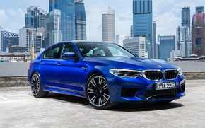 Picture the city, sedan, 2018, BMW M5, F90