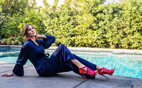 Picture look, girl, pose, pool, beauty, Erinn Hayes