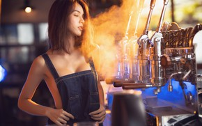 Picture girl, bar, Asian