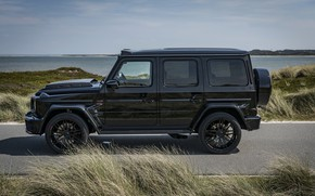 Picture black, Mercedes-Benz, SUV, Brabus, AMG, G-Class, in profile, G63, G 63, 2019, W464, Black Ops …