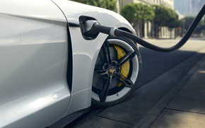 Picture wheel, Porsche, charging, Turbo S, 2020, Taycan