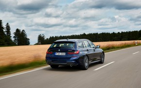 Picture speed, BMW, 3-series, universal, dark blue, 3P, 2020, G21, 330d xDrive Touring