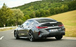 Picture road, forest, field, coupe, BMW, Gran Coupe, ass, AC Schnitzer, 2020, BMW M8, M8, the …