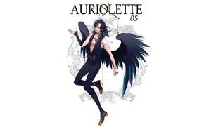 Picture angel, guy, black wings