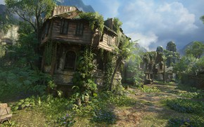 Picture street, Naughty Dog, Playstation 4, Uncharted 4: A Thief's End, Libertaliya, полуразрушенный дом